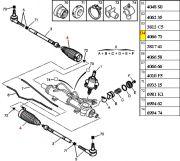 406673-Coifa da Caixa de Direcao HIDRAULICA - Lado Direito/Lado Esquerdo