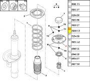 5038C5-Coxim do Amortecedor Dianteiro - Lado Esquerdo