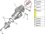 1338A6-Sensor de Temperatura Azul - 3 Pinos/ Aciona a Ventoinha